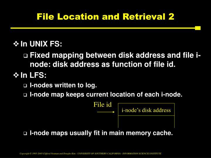 File Location and Retrieval 2