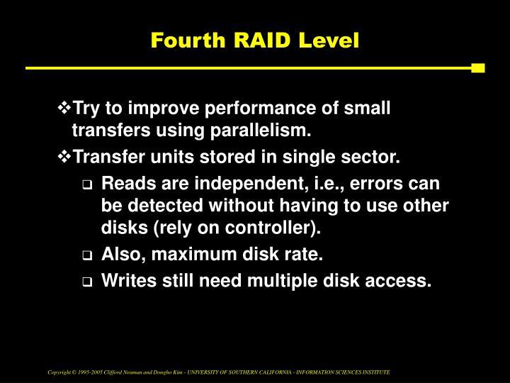Fourth RAID Level