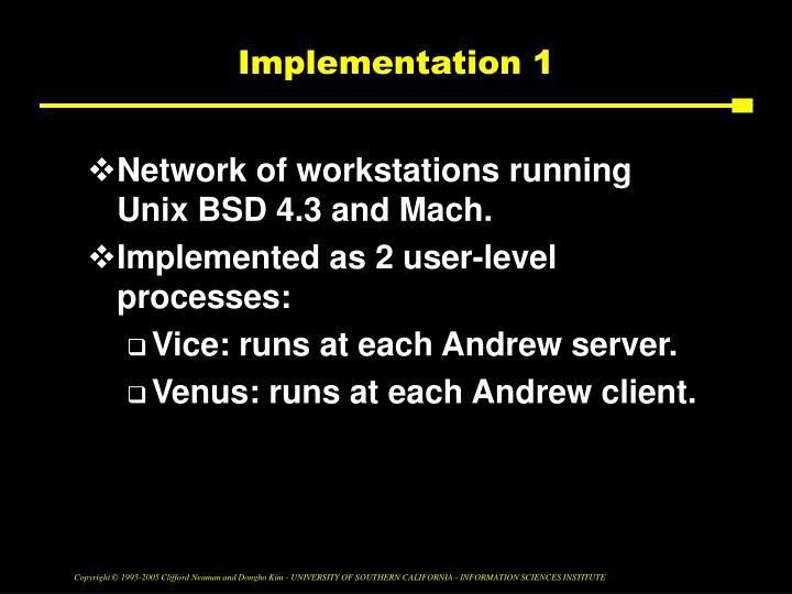 Implementation 1