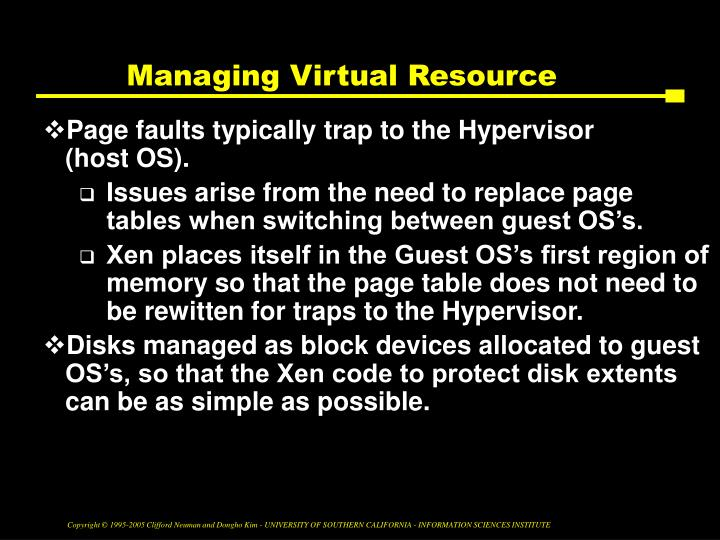 Managing Virtual Resource