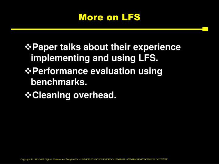 More on LFS