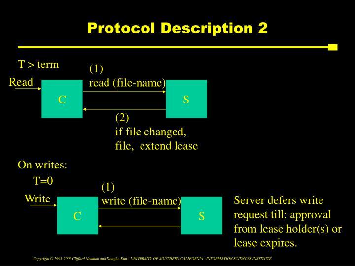 Protocol Description 2