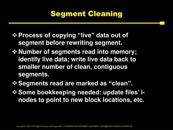 Segment Cleaning