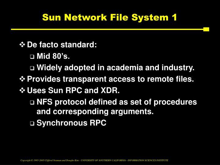Sun Network File System 1
