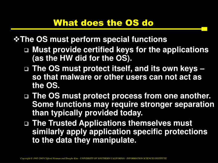 What does the OS do