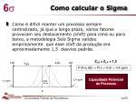 como calcular o sigma1