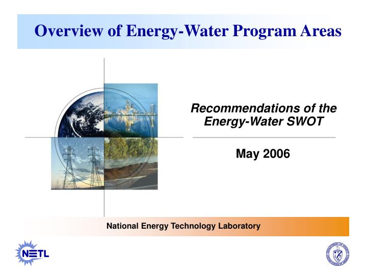 overview of energy water program areas n.