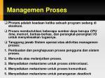 managemen proses