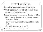 protecting threads