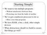 starting simple
