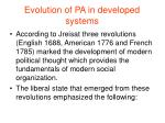 evolution of pa in developed systems