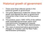 historical growth of government