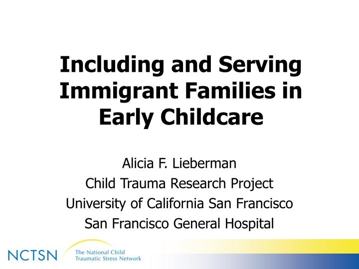 including and serving immigrant families in early childcare n.