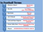 in football terms