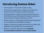 introducing damian haber