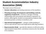 student accommodation industry association saia