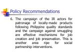policy recommendations5