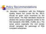 policy recommendations8