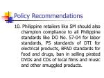 policy recommendations9