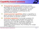 capability based solutions