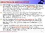 decentralized access control