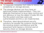 the design concept of parallel file systems