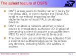 the salient feature of dsfs