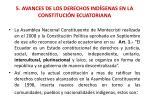 5 avances de los derechos ind genas en la constituci n ecuatoriana