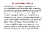 autonomia de las ctis
