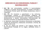 derechos de las comunidades pueblos y nacionalidades