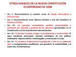 otros avances de la nueva constituci n ecuatoriano de 2008