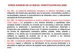 otros avances de la nueva constitucion del 20083