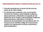 procedimientos para la constitucion de las cti