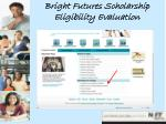 bright futures scholarship eligibility evaluation