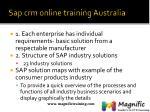 sap crm online training australia