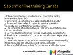 sap crm online training canada