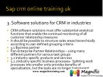 sap crm online training uk