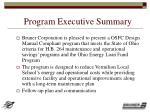 program executive summary