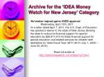 archive for the idea money watch for new jersey category