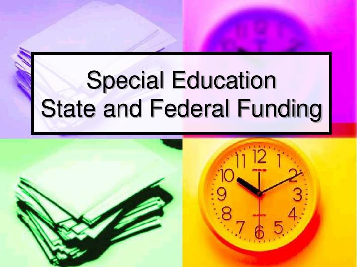 special education state and federal funding n.
