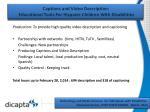 captions and video description educational tools