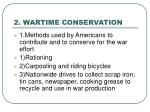 2 wartime conservation
