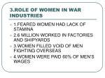 3 role of women in war industries