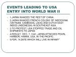 events leading to usa entry into world war ii