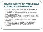 major events of world war ii battle of normandy