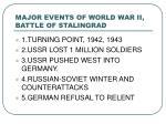 major events of world war ii battle of stalingrad