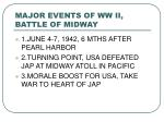major events of ww ii battle of midway