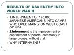 results of usa entry into world war ii