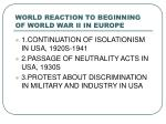 world reaction to beginning of world war ii in europe