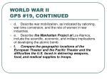 world war ii gps 19 continued